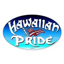 Hawaiian Pride Oval Decal
