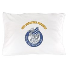 DUI - 3rd Infantry Division with Text Pillow Case