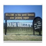 Napa Valley T's Tile Coaster