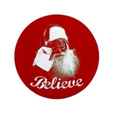 "Santa Claus Believe 3.5"" Button"