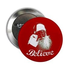 "Santa Claus Believe 2.25"" Button"