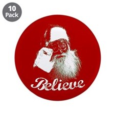 "Santa Claus Believe 3.5"" Button (10 pack)"