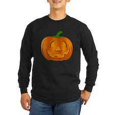 Halloween Jack-o-Lantern Pumpkin Long Sleeve T-Shi