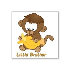 "Little Brother Monkey Square Sticker 3"" x 3"""