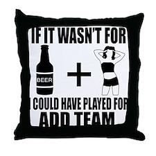 Funny customizable Sports team design Throw Pillow
