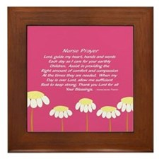 Nurse Prayer Blanket PILLOW 2 Framed Tile