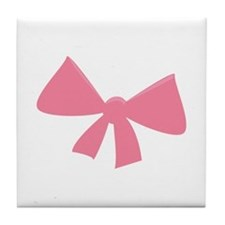 Pink Bow Tile Coaster