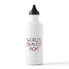 Worlds Okay-est Mom Water Bottle