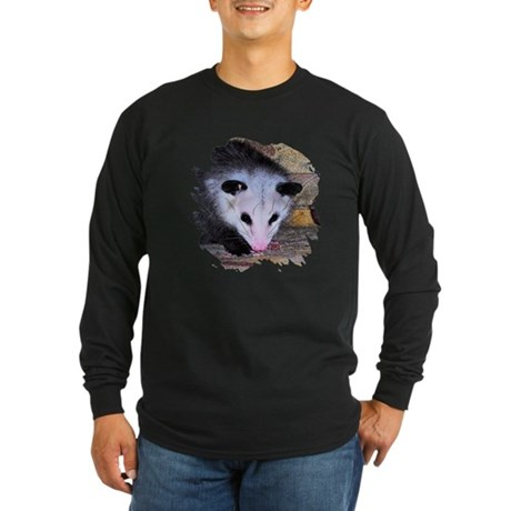Virginia Opossum Long Sleeve Dark T-Shirt