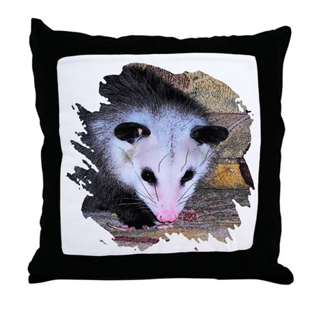 Virginia Opossum Throw Pillow
