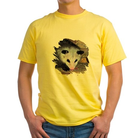 Virginia Opossum Yellow T-Shirt