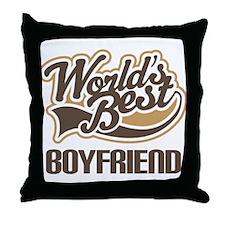 Worlds Best Boyfriend Throw Pillow