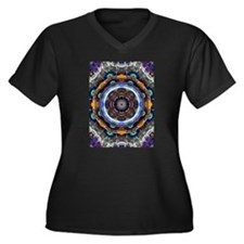 Reflective Fractal Mandala Plus Size T-Shirt