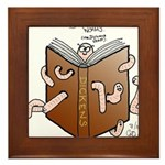 Bookworms (the Dickens Feast) Framed Tile
