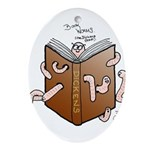 Bookworms (the Dickens Feast) Oval Ornament