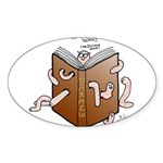 Bookworms (the Dickens Feast) Oval Sticker