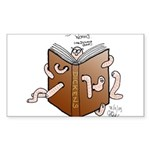 Bookworms (the Dickens Feast) Sticker (Rectangular