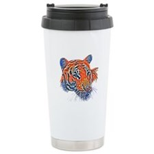 Orange Tiger Ceramic Travel Mug