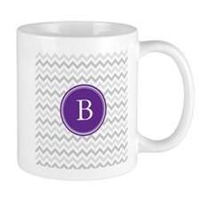 Purple Grey Chevron Mugs