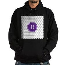 Purple Grey Chevron Hoody