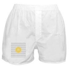 Yellow Gray Chevron Boxer Shorts