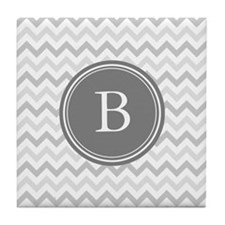 Shades of Grey Monogram Tile Coaster