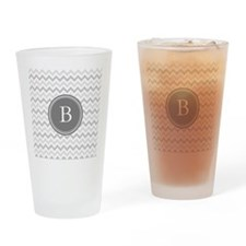 Shades of Grey Monogram Drinking Glass