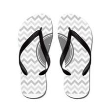Shades of Grey Monogram Flip Flops