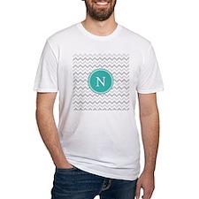 Turquoise Grey Chevron T-Shirt