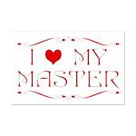 'I Love My Master' Mini Poster Print