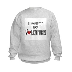 Anti-Valentine Kids Sweatshirt