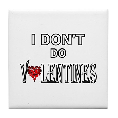 Anti-Valentine Tile Coaster