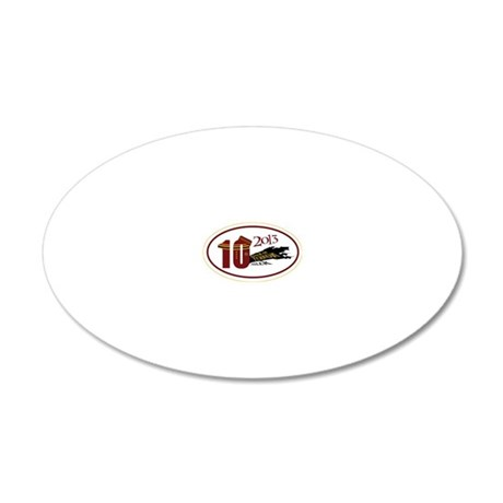 TOT 10 Miler 2013 20x12 Oval Wall Decal