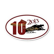 TOT 10 Miler 2013 Oval Car Magnet