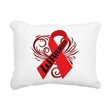 AIDS HIV Warrior Rectangular Canvas Pillow