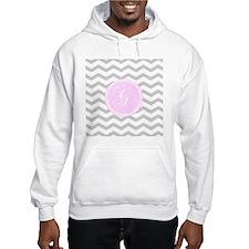Pink and Grey Monogram Chevron Jumper Hoody