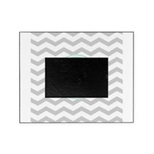 Gray monogram Chevron Picture Frame