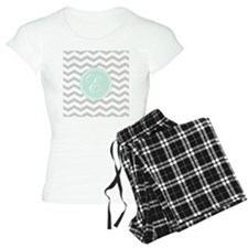 Gray monogram Chevron pajamas