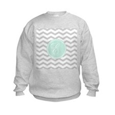Gray monogram Chevron Sweatshirt