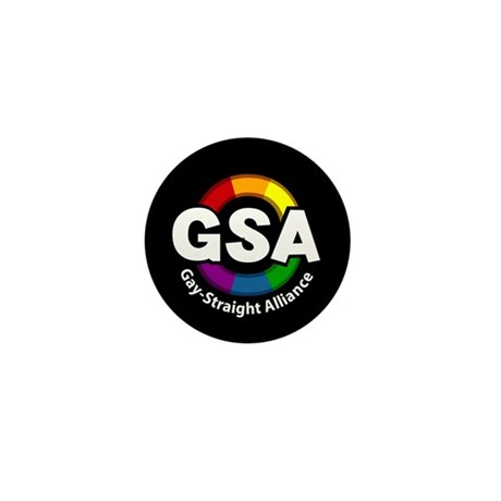 GSA ToonB Black Mini Button