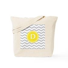 Grey Chevron Monogram Tote Bag
