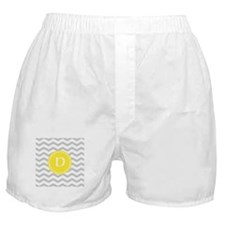 Grey Chevron Monogram Boxer Shorts