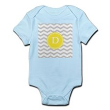 Grey Chevron Monogram Body Suit