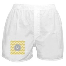 Yellow Chevron Monogram Boxer Shorts