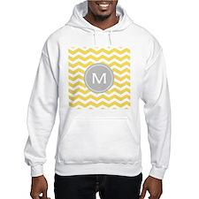 Yellow Chevron Monogram Jumper Hoody