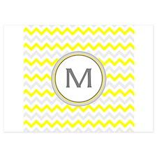 Monogrammed chevron Invitations
