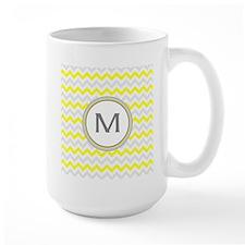 Monogrammed chevron Mugs