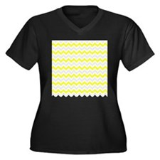 Yellow and Grey Zig Zags Plus Size T-Shirt