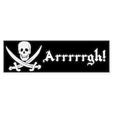 Arrrrrgh! Jolly roger pirate bumper sticker