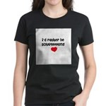 I'd Rather Be Scrapbooking Women's Dark T-Shirt